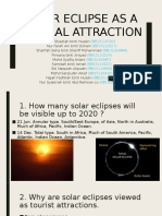 Solar Eclipse as a Natural Attraction
