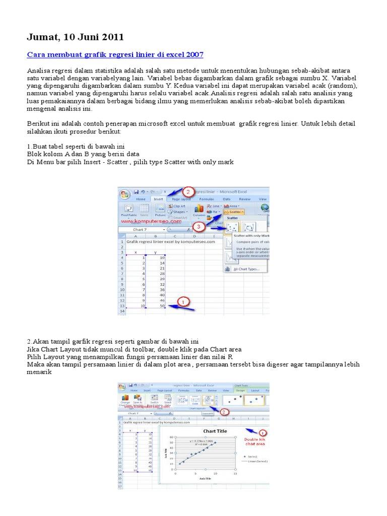 Membuat Kurva Kalibrasi Excel