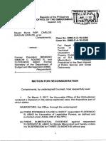 Bayan Muna motion for reconsideration