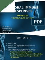 Humoral Immune Responses Dr. Ika Yustisia
