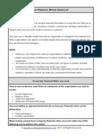Fme Key Financial Ratios Checklist