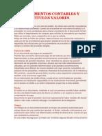 Documentos Contables y Titulos Valores