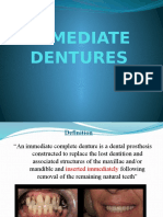 Immediate Dentures