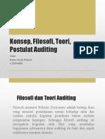 Konsep, Filosofi, Teori, Postulat Auditing