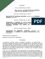 1 Zamora v. Collector of Internal Revenue