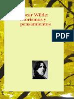 Oscar Wilde Aforismos y Pensamientos