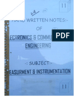 Measurement & Instrumentation