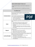 Fme Performance Improvement Checklist