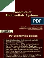 Economics of Photovoltaic Systems