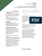 Síntesis de Dibenzalacetofenona