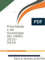 Prioridades de Investigación en la UNAH