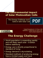 Environmental and Social Impact of Solar Photovoltaics