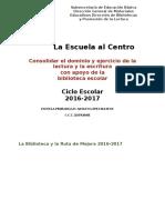 03 Biblioteca y La Ruta de Mejora 2016-2017