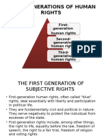 Three Generations of Human Rights