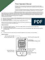 Kill-A-Watt P4880 Graphic Timer Operation Manual