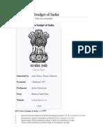 2017 Union Budget of India