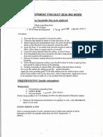MOS Duct Sealing & Bentonite Calculation