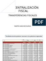 Transferencias Gob Reg Local