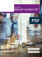 Is Your Workplace Culturally Fit