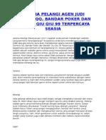 Jelaspoker Com Situs Agen Poker Online Terpercaya Di Indonesia