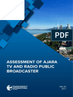 Assessment of Public Broadcaster Ajara TV and Radio
