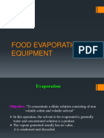 Food Evaporation Equipment