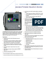 WFM2300 Multiformat Multistandard Portable Waveform Monitor Datasheet 3