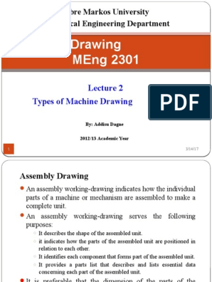 Types of Machine Drawing | Technical Drawing | Machines