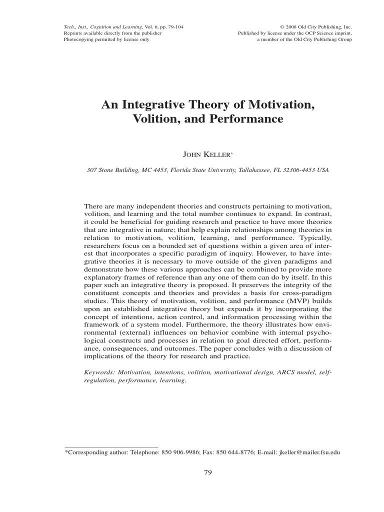 Mvp Theory Curiosity Motivation