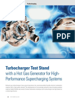 Turbocharger Test Stand with a Hot Gas Generator for High- Performance Supercharging Systems