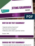 Testing Grammar.ozge