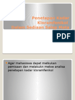 P1. Penentuan Kadar Kloramfenikol Dalam Sediaan Salep Mata