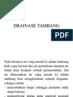 Drainase Tambang