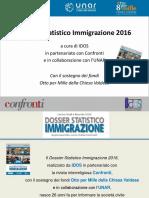 Dossier Statistico Immigrazione Idos Slide