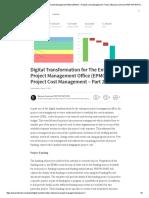 Digital Transformation for the Enterprise Project Management Office (EPMO) – Project Cost Management – Part 2 _ Bassam Samman PMP PSP EVP GPM _ Pulse _ LinkedIn