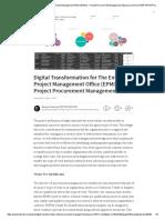Digital Transformation for the Enterprise Project Management Office (EPMO) – Project Procurement Management _ Bassam Samman PMP PSP EVP GPM _ Pulse _ LinkedIn