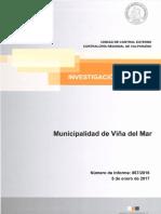Informe Final de Investigación Especial 867-16 Municipalidad de Viña Del Mar Sobre Capacitación de Concejales en El Extranjero - Enero 2017