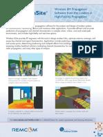 Remcom WirelessInSite2.8 Brochure