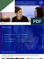 Microsoft Inspire 2017 Sponsor and Exhibitor Prospectus (December)