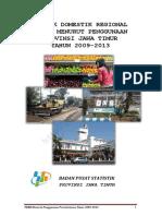 Produk Domestik Regional Bruto Jawa Timur Menurut Pengeluaran Tahun 2009 2013
