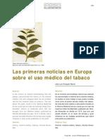 Las primeras noticias en Europa sobre el uso médico del tabaco.pdf