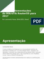 ISP Padrão Montando Seu Provedor MikroTik RouterOS Leonardo Rosa