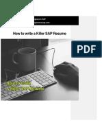 How to Write a Killer SAP Resume