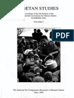 Tibetan Studies PIATS-6 (Appendix to Vol. 1)