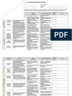 Lesson Plan Evaluation Rubric