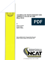 Aggregate Tests for Hot Mix Asphalt