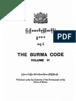 The Burma Code Vol-6