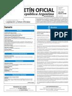Boletín Oficial de la República Argentina, Número 33.584. 14 de marzo de 2017