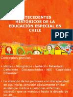 Antecedentes historicos de la educacion especial en chile