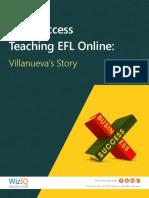 Find Success Teaching EFL Online- Villanueva's Story